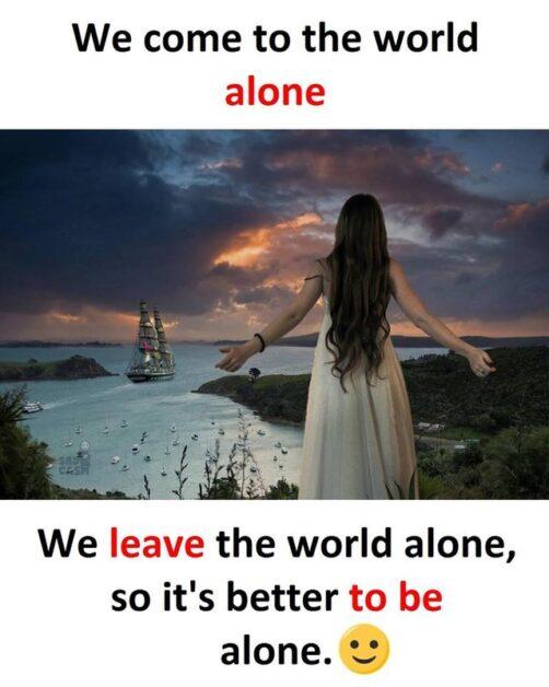 alone status for fb