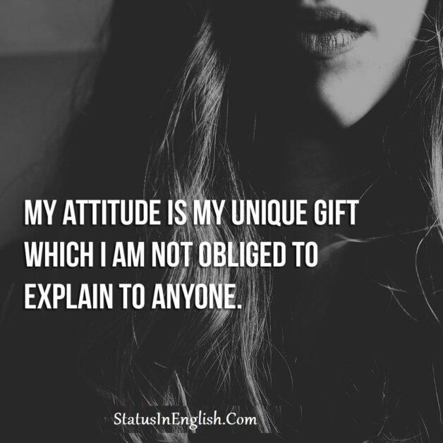 attitude status and attitude quotes