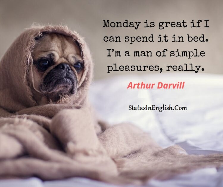 Funny Monday quote and image