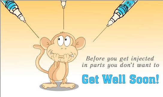 funny get well soon msg for facebook photo comment