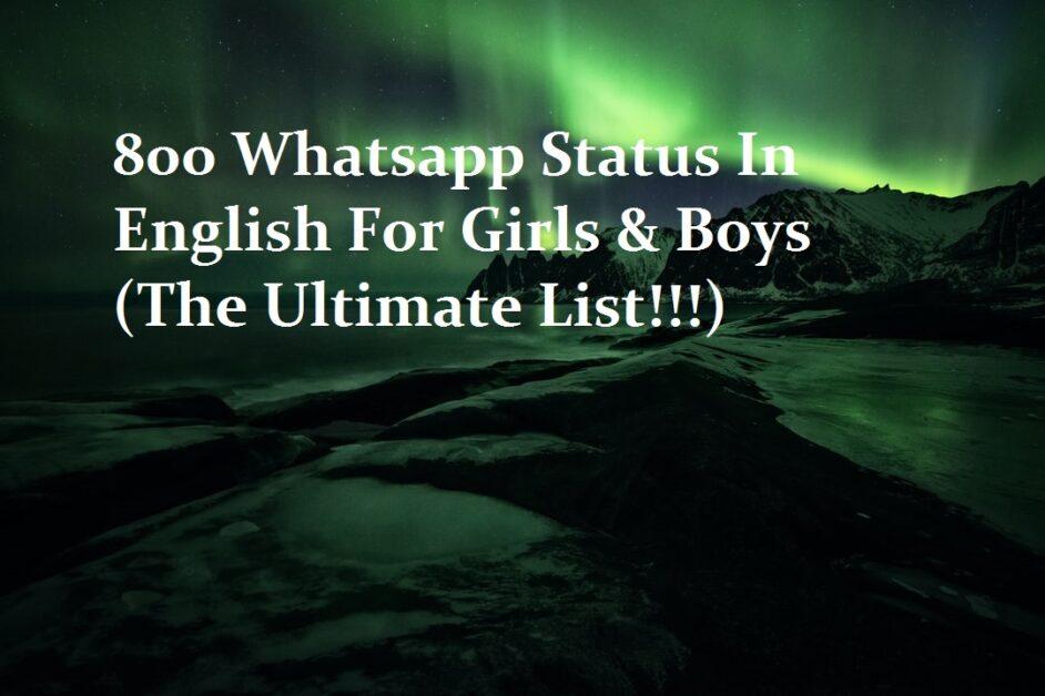 Whatsapp status in english